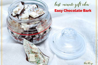 Chocolate Bark is a quick and easy treat that makes a great last minute gift. #chocolate #recipes
