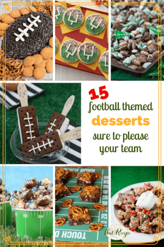 football desserts graphic