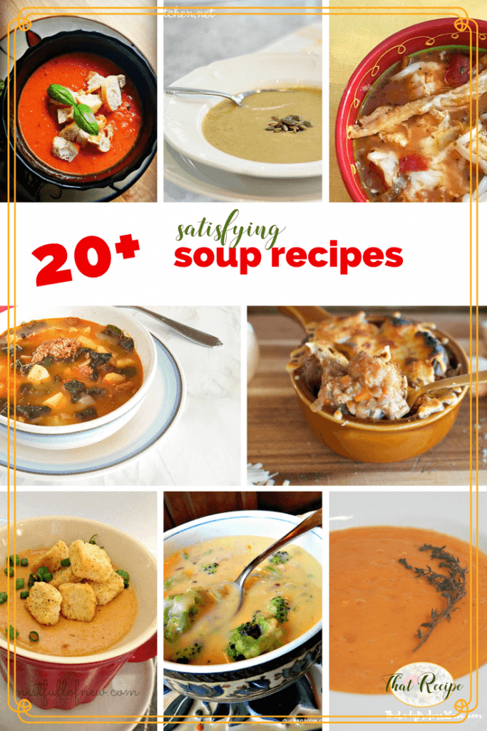Who needs store bought soup when homemade is so easy to make and much more delicious? With 20+ different soup recipes you are sure to find one to try.