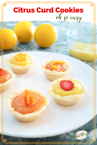 lemon curd and orange curd cookie cups
