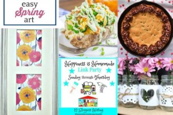 Spring Art and Recipes from Happiness is Homemade