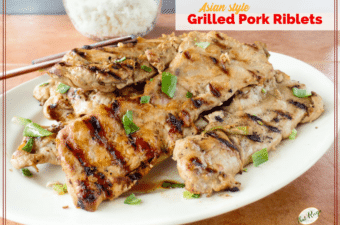 grilled pork riblets on a plate