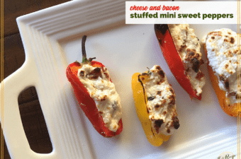 Easy Entertaining: 3 Cheese and Bacon Stuffed Mini Sweet Peppers #tastytuesdays