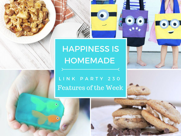collage of happiness is homemade features