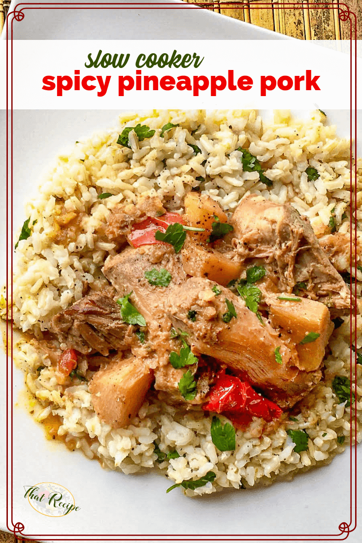 This Spicy Pineapple Pork Roast is a feast your family will love. A spicy sweet combination of ingredients cooked in the slow cooker. #slowcookerrecipe #porkroastrecipe #easyrecipe