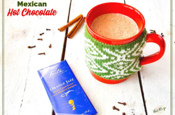 Mexican Hot Chocolate in a mug with Forte Chocolate bar