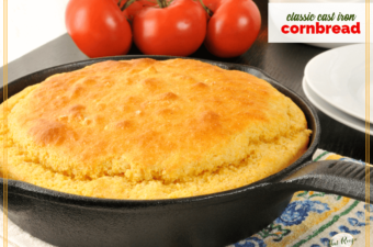 cornbread in a cast iron skillet