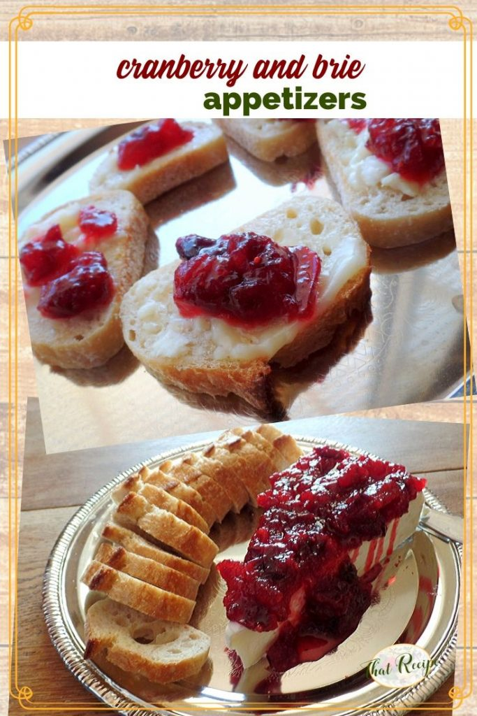 collage of cranberry andbrie appetizers