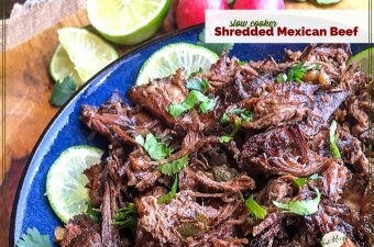 plate of shredded Mexican beef