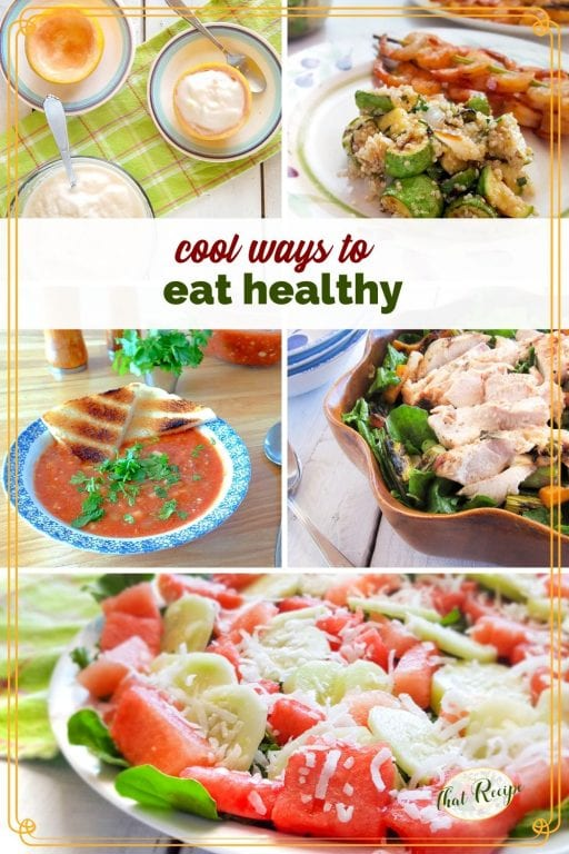collage of cooling summer foods