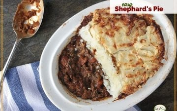 top down view of Shephard's Pie