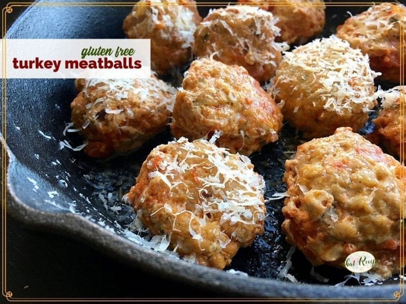 close up of meatballs in a skillet
