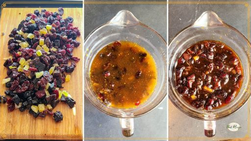 dried fruit before, during and after soaking