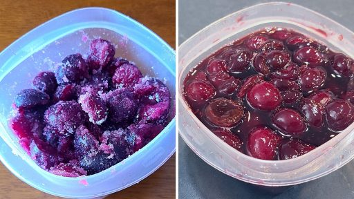 before and after pictures of cherries mascerating